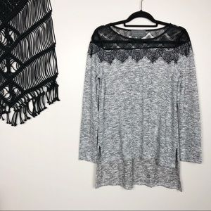 NEW✨Sunday in Brooklyn | lace yoke shimmer tunic